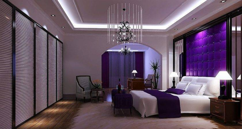 Beautiful Purple Bedroom Decor Modern Interior Design