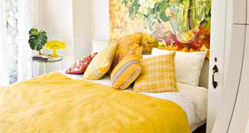 Beautiful Yellow Themed Small Bedroom Designs