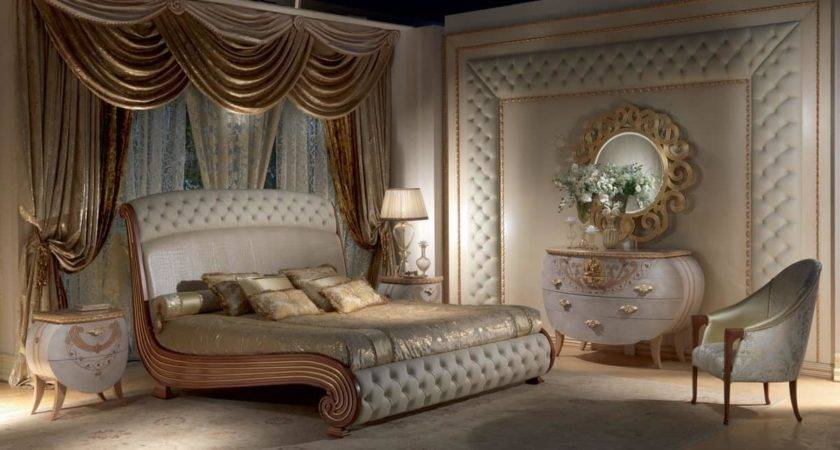 Bed Solid Wood Gold Leaf Decorations Quilted Idfdesign