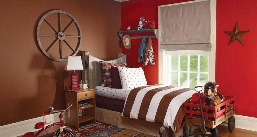 Bedroom Astounding Red Paint Ideas