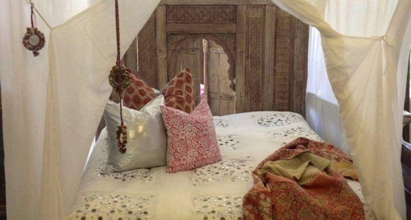 Bedroom Bed Curtain Bedding Moroccan Style