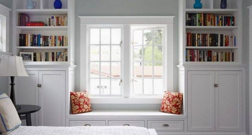 Bedroom Built Window Seat Drawers Decorations