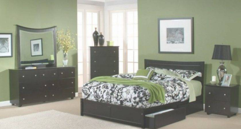 Bedroom Color Schemes Black Furniture Home Delightful