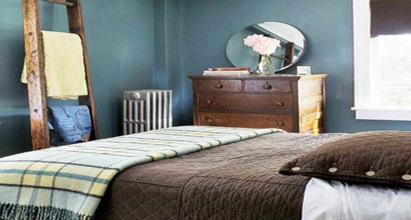 Bedroom Cool Brown Blue Ideas Decorating