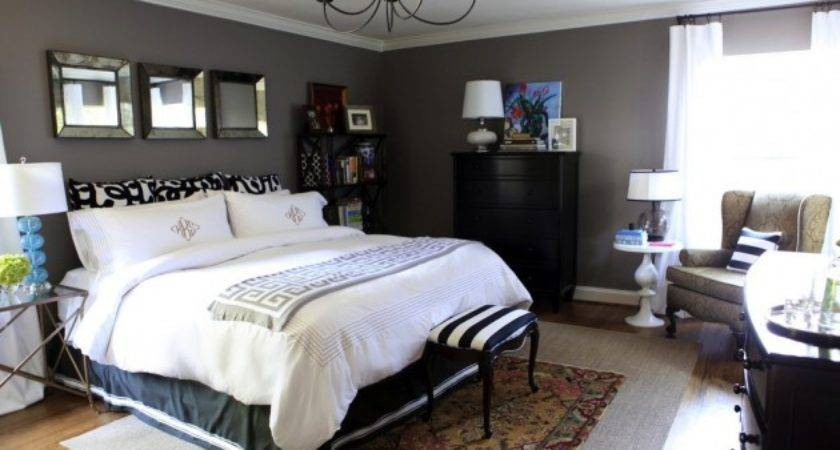 Bedroom Decorating Painted Charcoal Gray Walls White