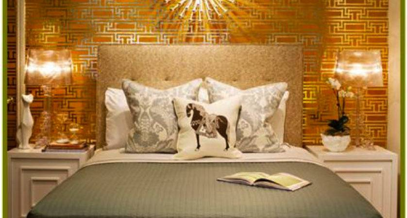 Bedroom Gold Accent Wall Decorations