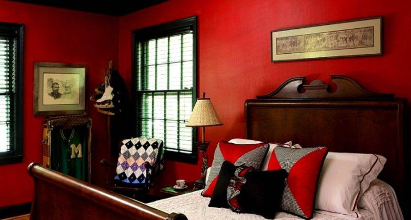 Bedroom Impressive Red Paint Ideas
