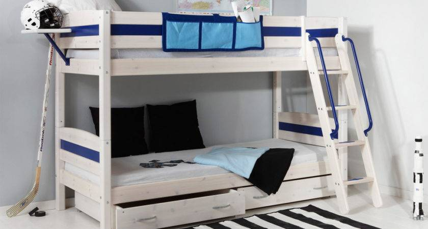 Bedroom Lively Colorful Boys Room Space Saving Bunk Bed