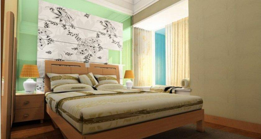 Bedroom Main Wall Decoration Green Gray House