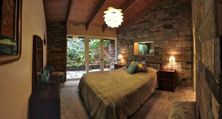 Bedroom Stone Accent Wall