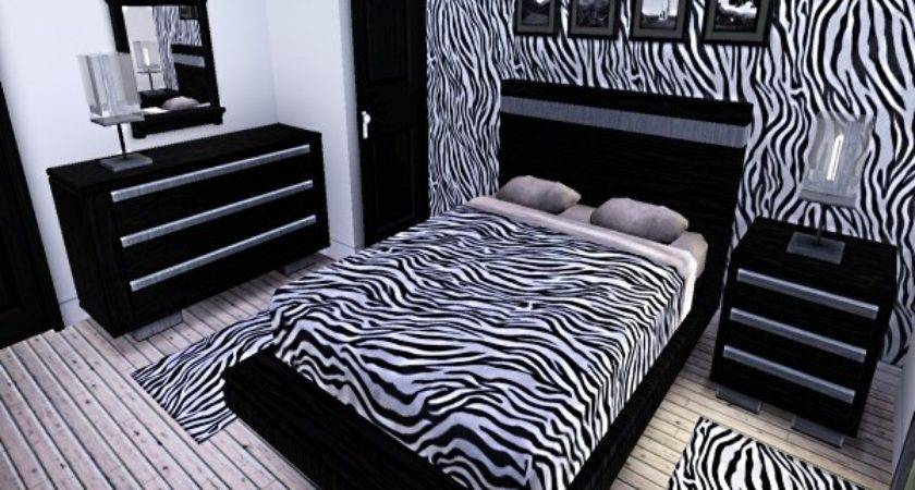 Bedroom Zebra Print Ideas Black Wardrobe Wooden