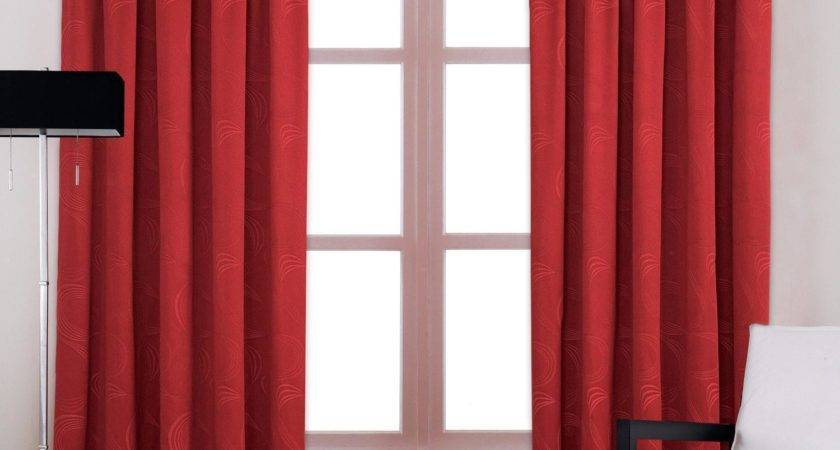Bedrooms Black Silver Red Curtains Dining