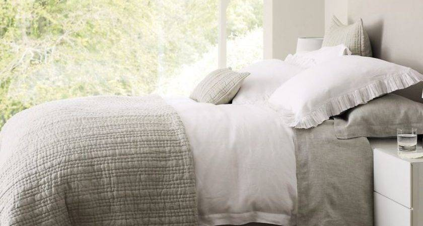 Best Grey White Bedding Ideas Pinterest