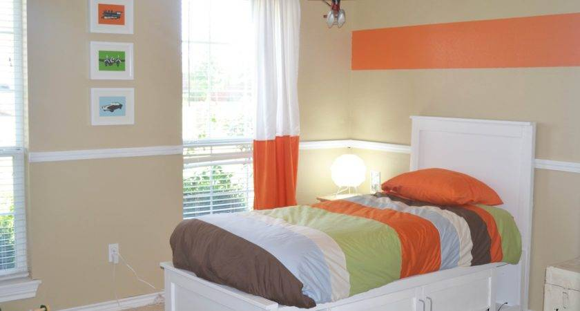 Best Orange Accent Wall Color Scheme Kids Tropical