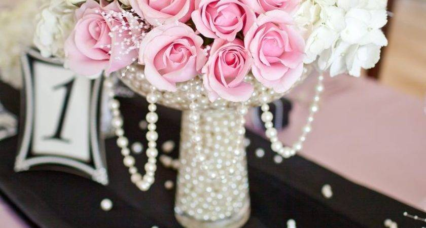 Best Pearl Centerpiece Ideas Pinterest