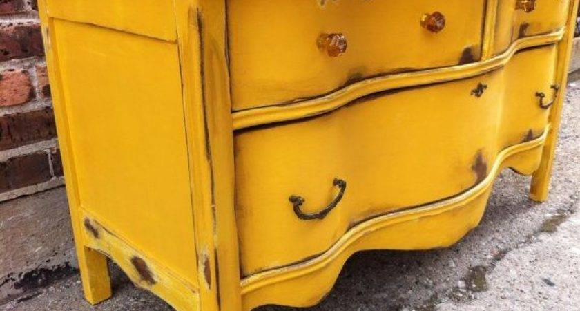Best Yellow Distressed Furniture Ideas Pinterest