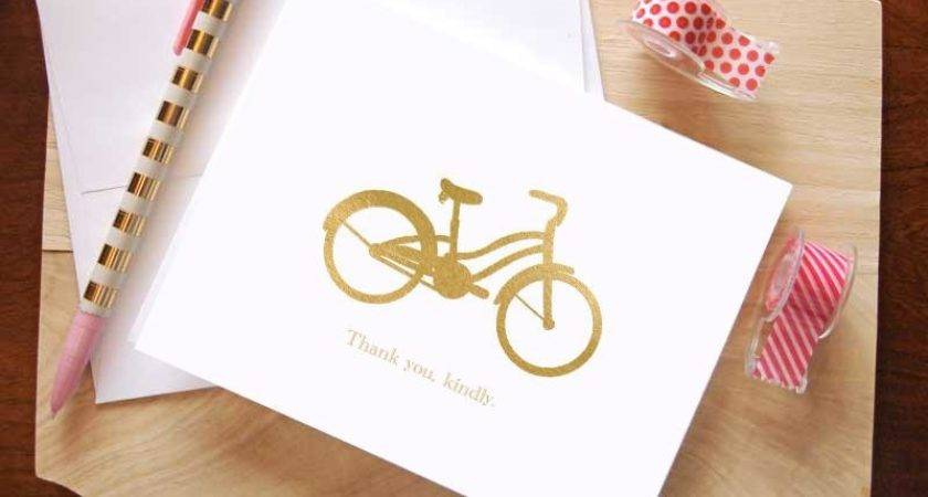 Bicycle Thank Cards Nella Designs