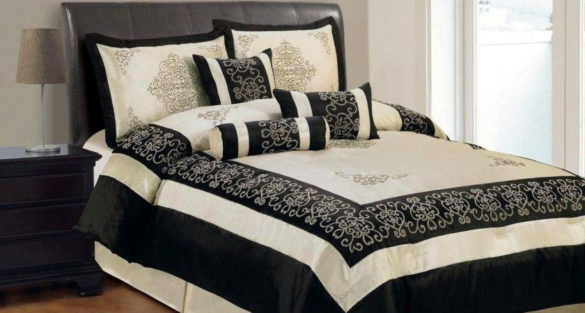 Black Beige Comforter Sets Beautiful