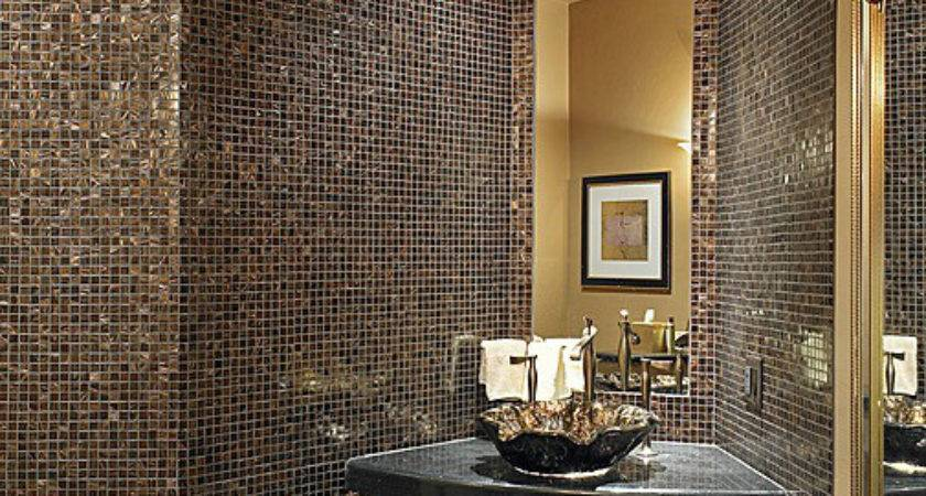 Black Gold Bathroom Tiles Ideas