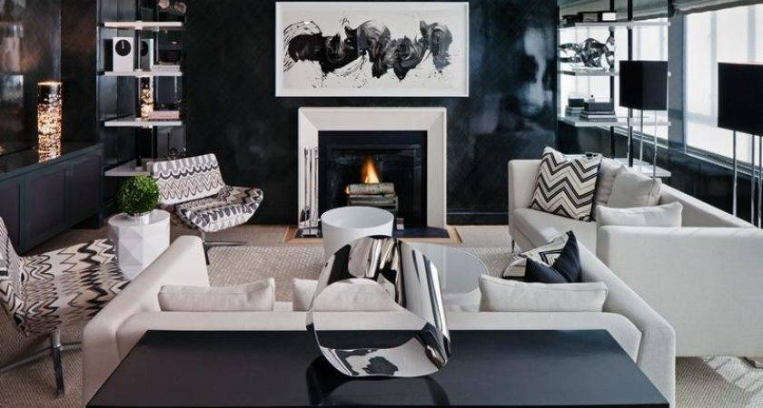 Black Grey Living Room Modern House
