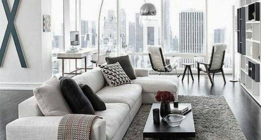Black Grey White Living Room Ideas