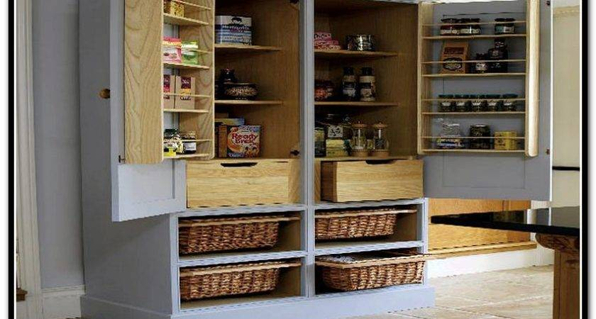 Black Kitchen Pantry Cabinet Freestanding