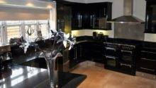 Black Kitchens Grasscloth