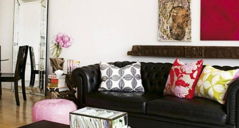 Black Leather Sofa Design Decor Photos Ideas