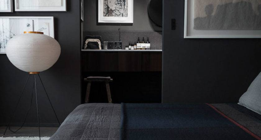 Black Paint Dark Rooms Home Decorating Interior Design
