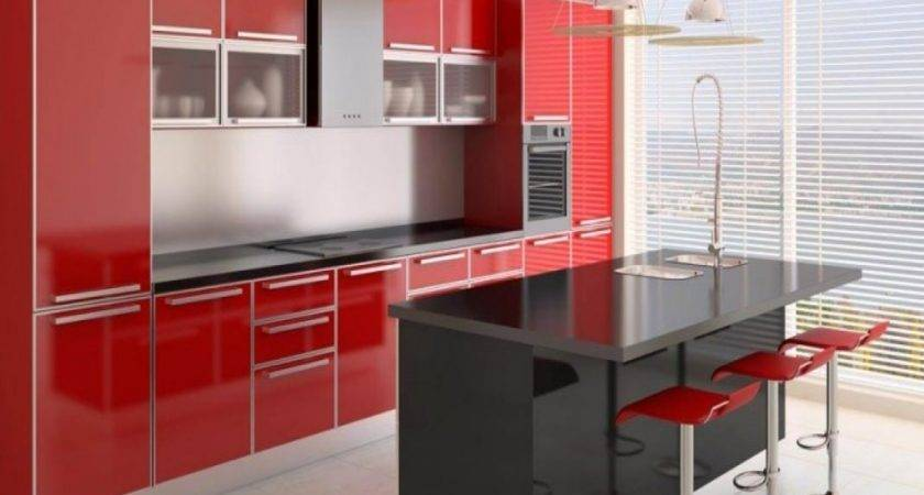 Black Red Kitchen Designs Design Ideas
