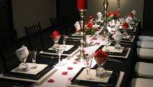Black Red Table Decorations Photograph White
