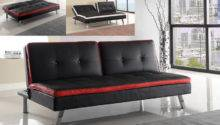 Black Red White Sofa Couch Adjustable