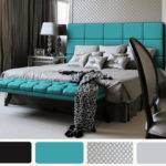 Black Turquoise White Bedroom Ideas Home Design Inside