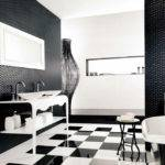 Black White Bathroom Floor Tiles Decor Ideasdecor Ideas