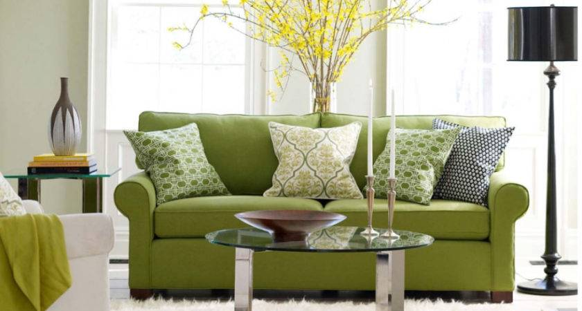 Black White Green Living Room Ideas