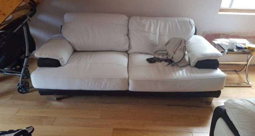 Black White Leather Couches Sale Crumlin