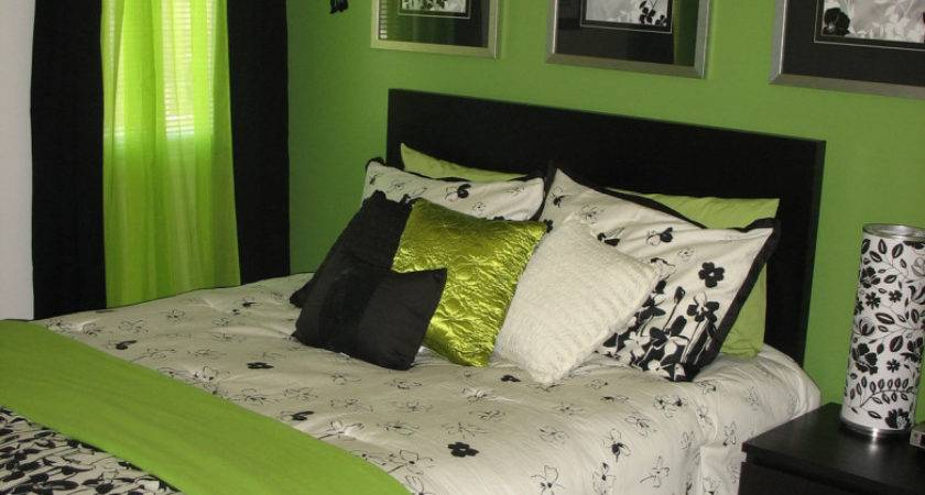 Black White Lime Green Bedroom Ideas Vintage Inspired
