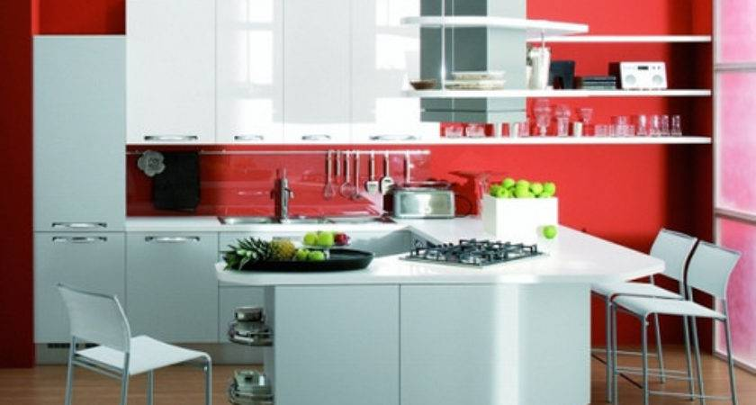 Black White Red Kitchen Grasscloth