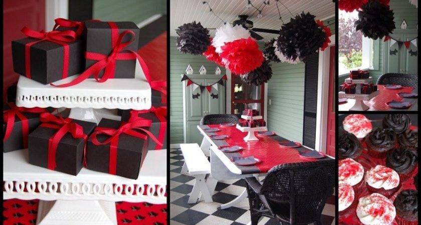 Black White Red Party Decorations Pixshark