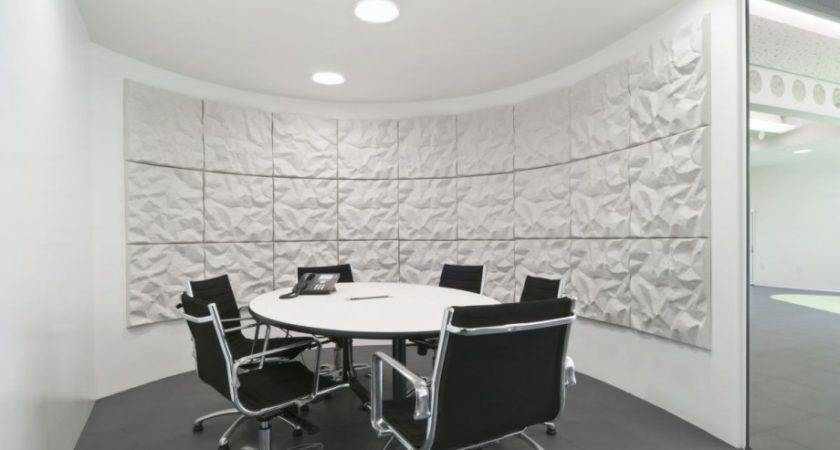 Black White Small Office Meeting Room Design