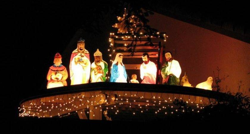 Bloombety Nativity Outdoor Lighted Christmas Decorations