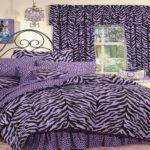 Bloombety Purple Zebra Print Decor Bedroom