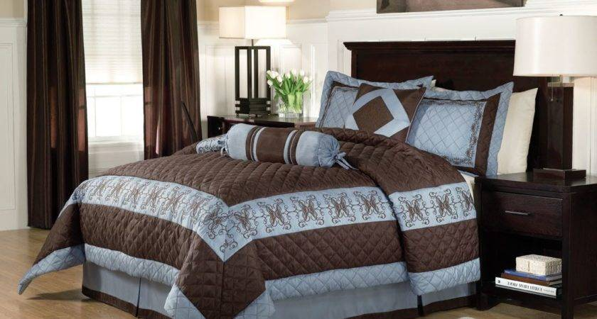 Blue Brown Bedrooms Home Design