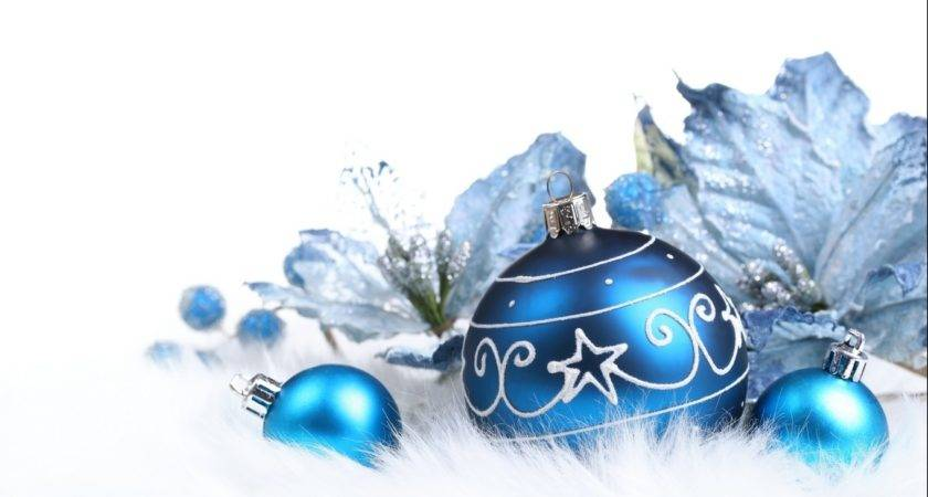 Blue Christmas Ornaments Photos