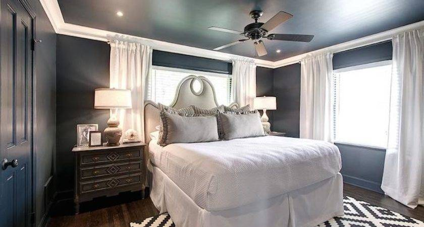 Blue Gray Bedrooms Transitional Bedroom Har