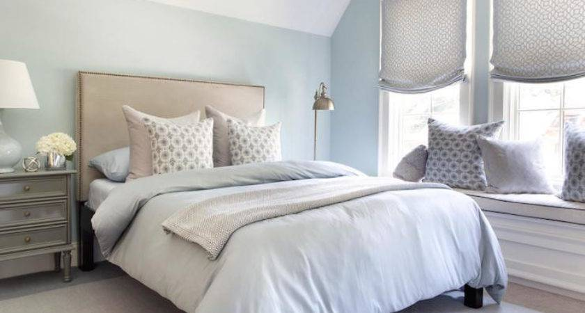 Blue Gray Bedrooms Transitional Bedroom