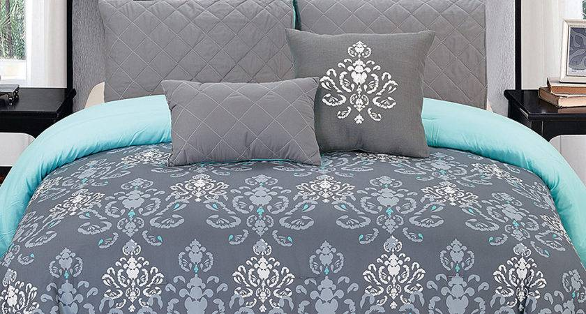 Blue Gray Comforter Set Montclair