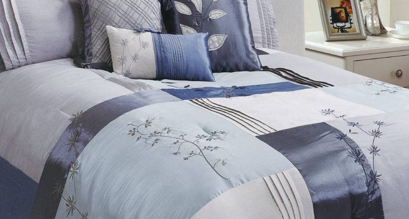 Blue Grey Bedding