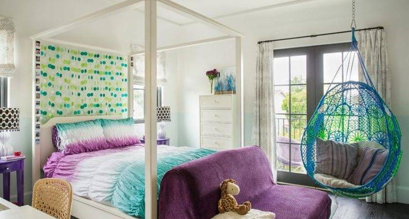 Blue Purple Girl Bedroom Anthropologie Knotted