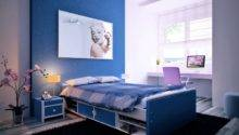 Blue Purple Kids Room Interior Design Ideas